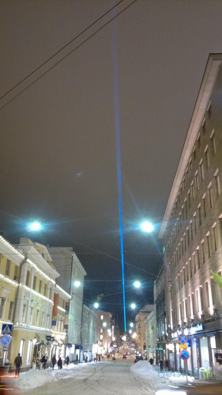 Blue beam in Helsinki