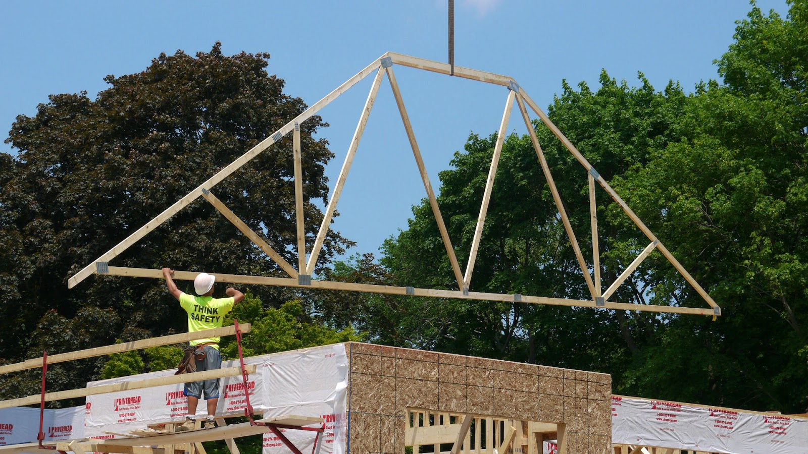 The impatient home builder roof trusses for Roof trusses