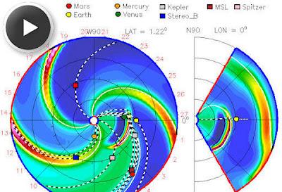 Trayectoria nube de plasma sokar, 14 de Jnuio de 2012