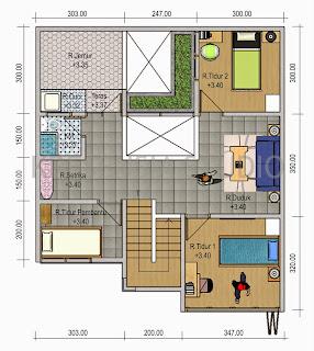Contoh Desain Rumah Minimalis 4