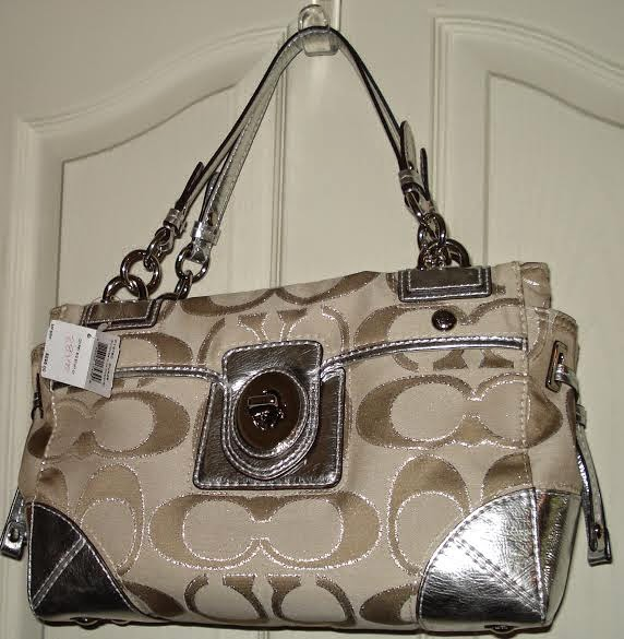 coach+4 FREE Blogger Opp! ~ Coach PEYTON Signature Satchel Metallic Carryall Purse Giveaway!