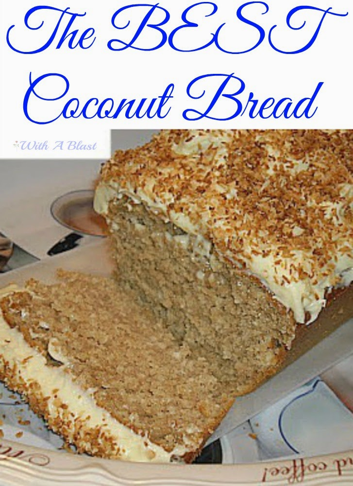 Coconut Bread with Cream Cheese Frosting