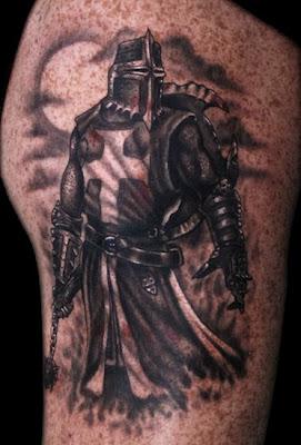 Knight Tattoo on Arm