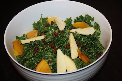 vegan raw kale salad
