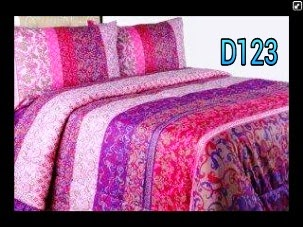 sprei abstrak motif india