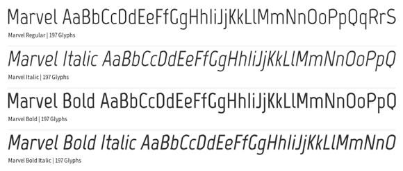 Free Font - Marvel