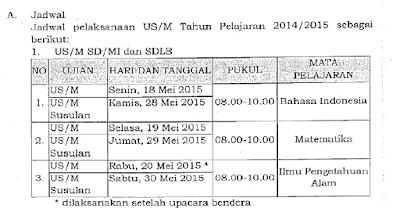Jadwal Ujian Sekolah Us Sd Mi Dan Download Kumpulan Prediksi Soal Ujian Sd Mi Tahun 2015