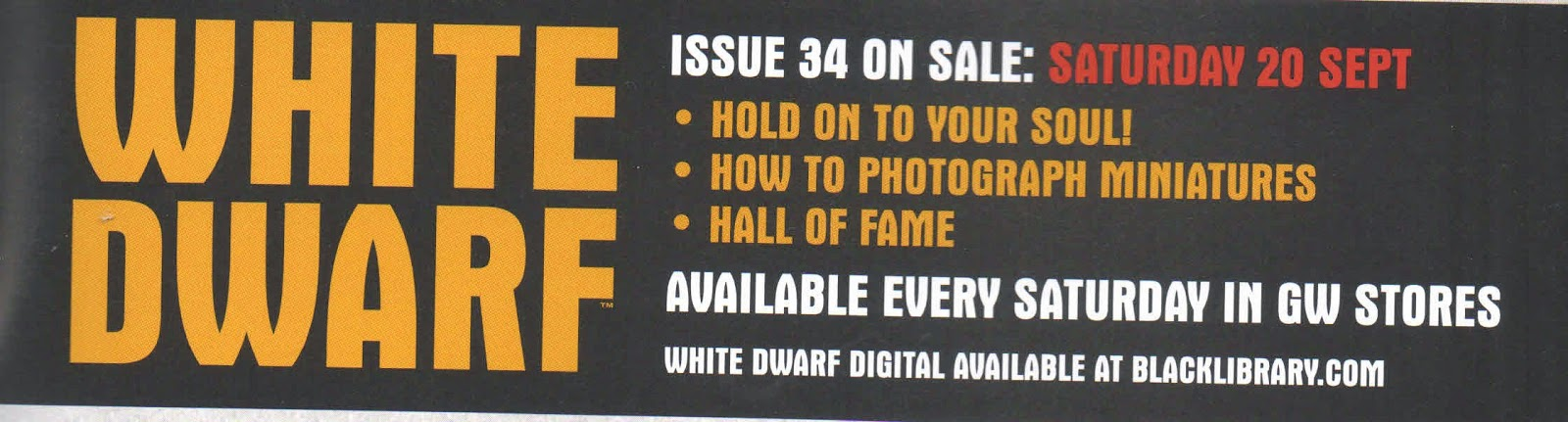 Adelanto de la White Dwarf 34