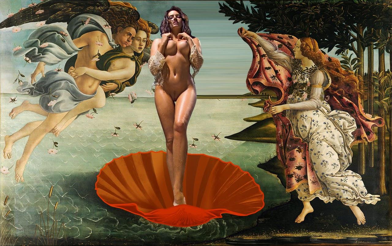 Playmates in Paintings – Birth of Venus