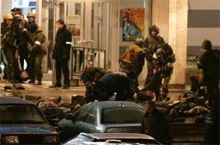 Terroristas en Teatro de Moscú
