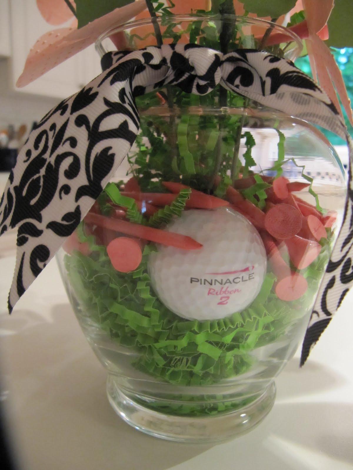 crazy4cricut  golf paper flower arrangement