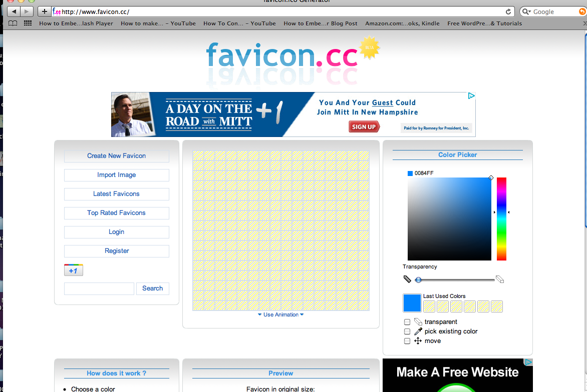 how to create a favicon for blogger