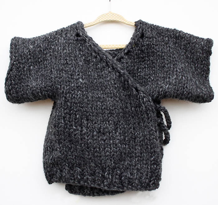 Knitting Pattern For Kimono Cardigan : Toddler Kimono Sweater Knitting Pattern - Gina Michele