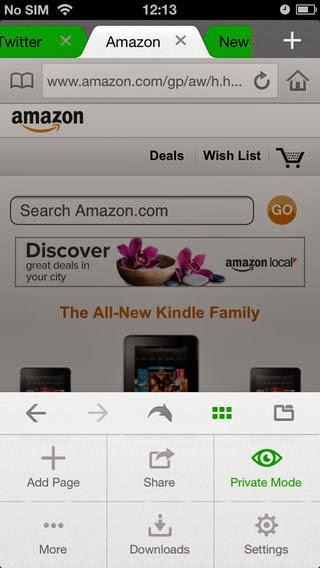 تحميل متصفح دولفين للأي فون والأي باد والأي بود تاتش مجاناً Dolphin Browser IPA-iOS 7.5.1