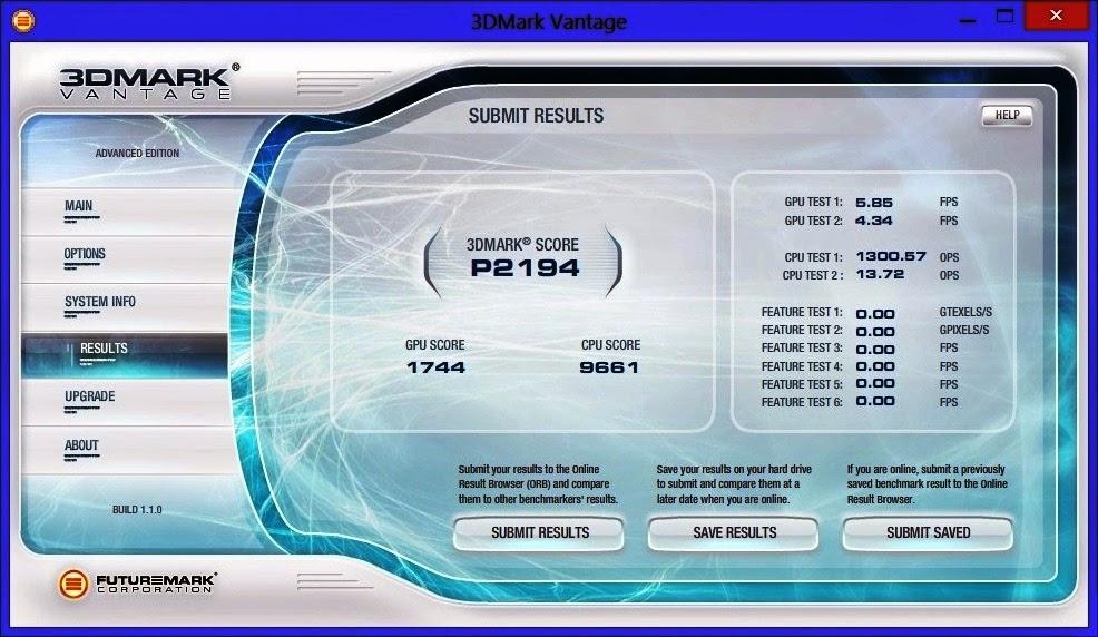 тесты в 3D марке Samsung 300A2A-T01