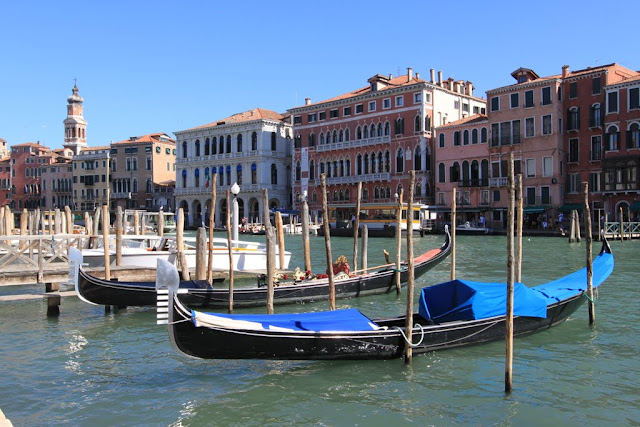 Gondolas at Grand Canal in Venice, Italy