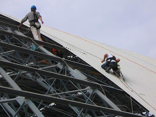 Rope Access Work - Corrugated Iron Roofing