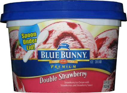 blue bunny double strawberry