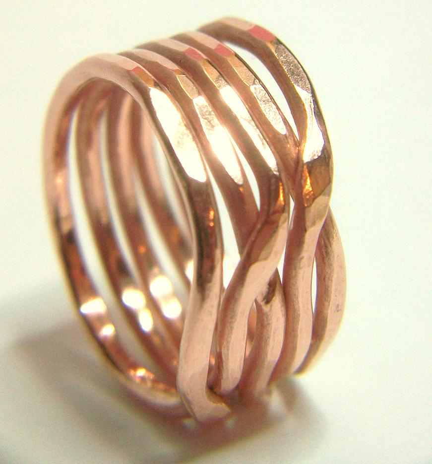 York Avenue Studio\'s Blog: Bold Copper Weave Stack Ring Tutorial How To