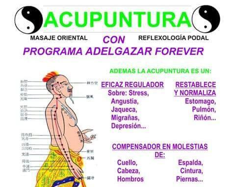 CONSULTA DE NATUROPATÍA, ACUPUNTURA, MASAJES ORIENTALES, QUIROMASAJE, DIETAS Y ESTETICA