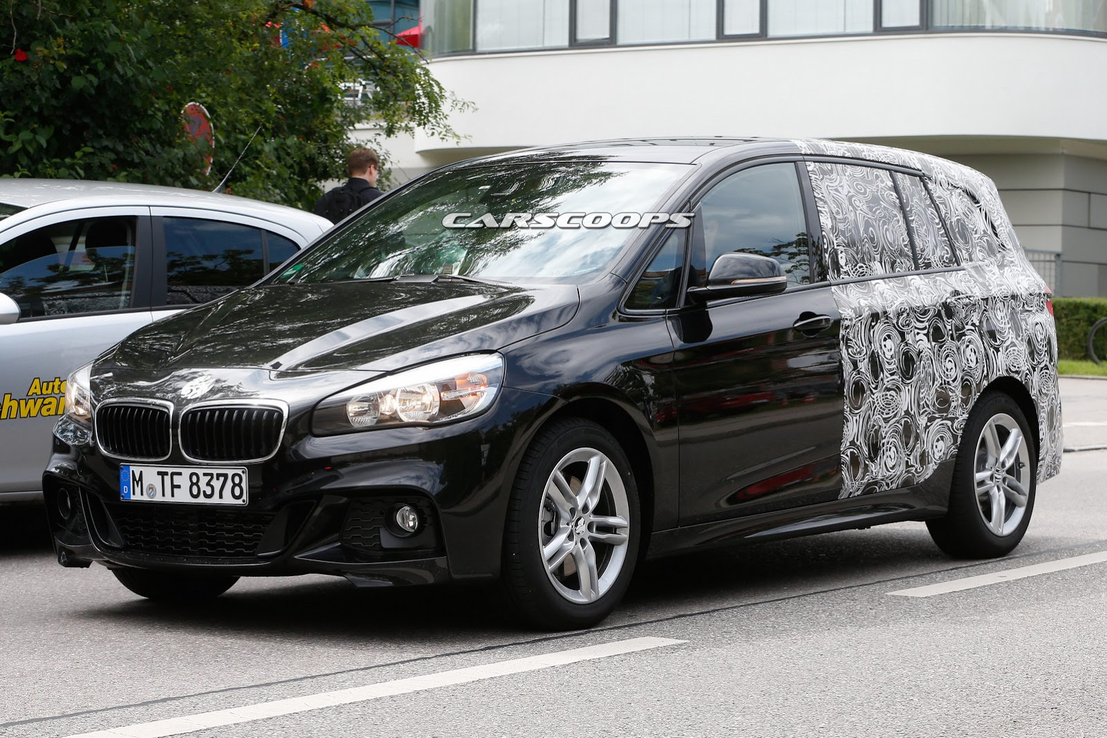 spied bmw 2 series active tourer is expecting a 7 seat version. Black Bedroom Furniture Sets. Home Design Ideas