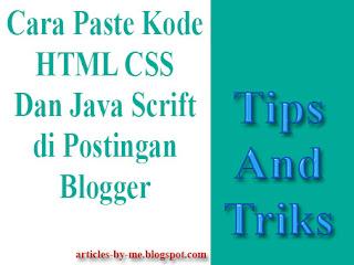 Cara Meng-Convert Kode HTML ke Dalam Postingan