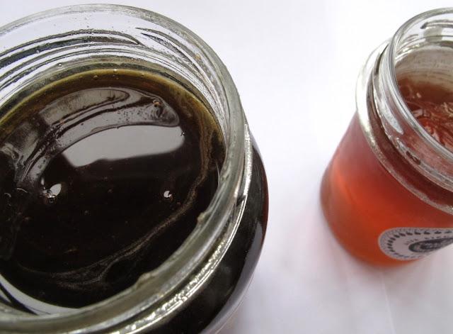Miellat du maquis corse (La Maison du Miel) et gelée de cidre (La Chambre aux confitures)