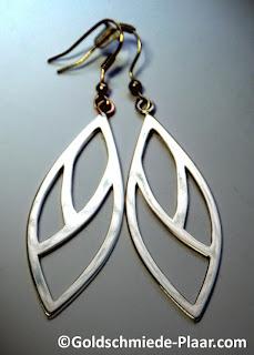 Ohrhänger, Silber, Blatt