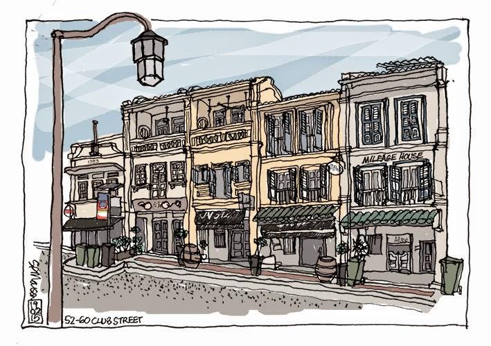 Club Street sketch