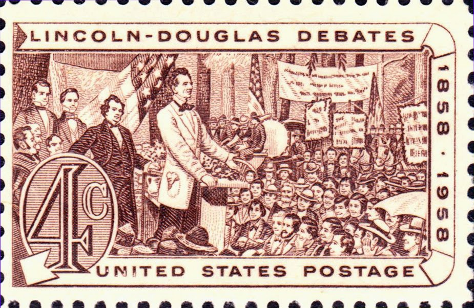Lincoln-Douglas Debates US Stamp