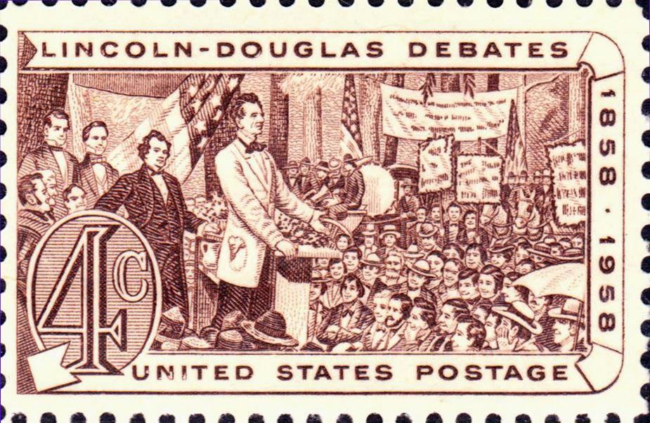 Lincoln-Douglas Debates US Stamp