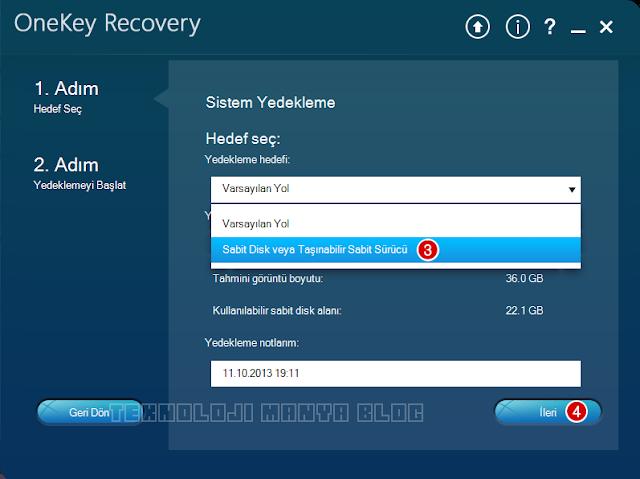 Lenovo OneKey Recovery anlatım