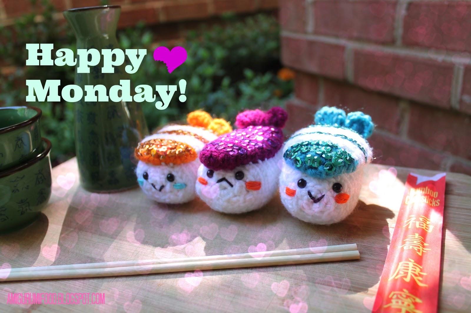 Amigurumi Food: Happy Monday!