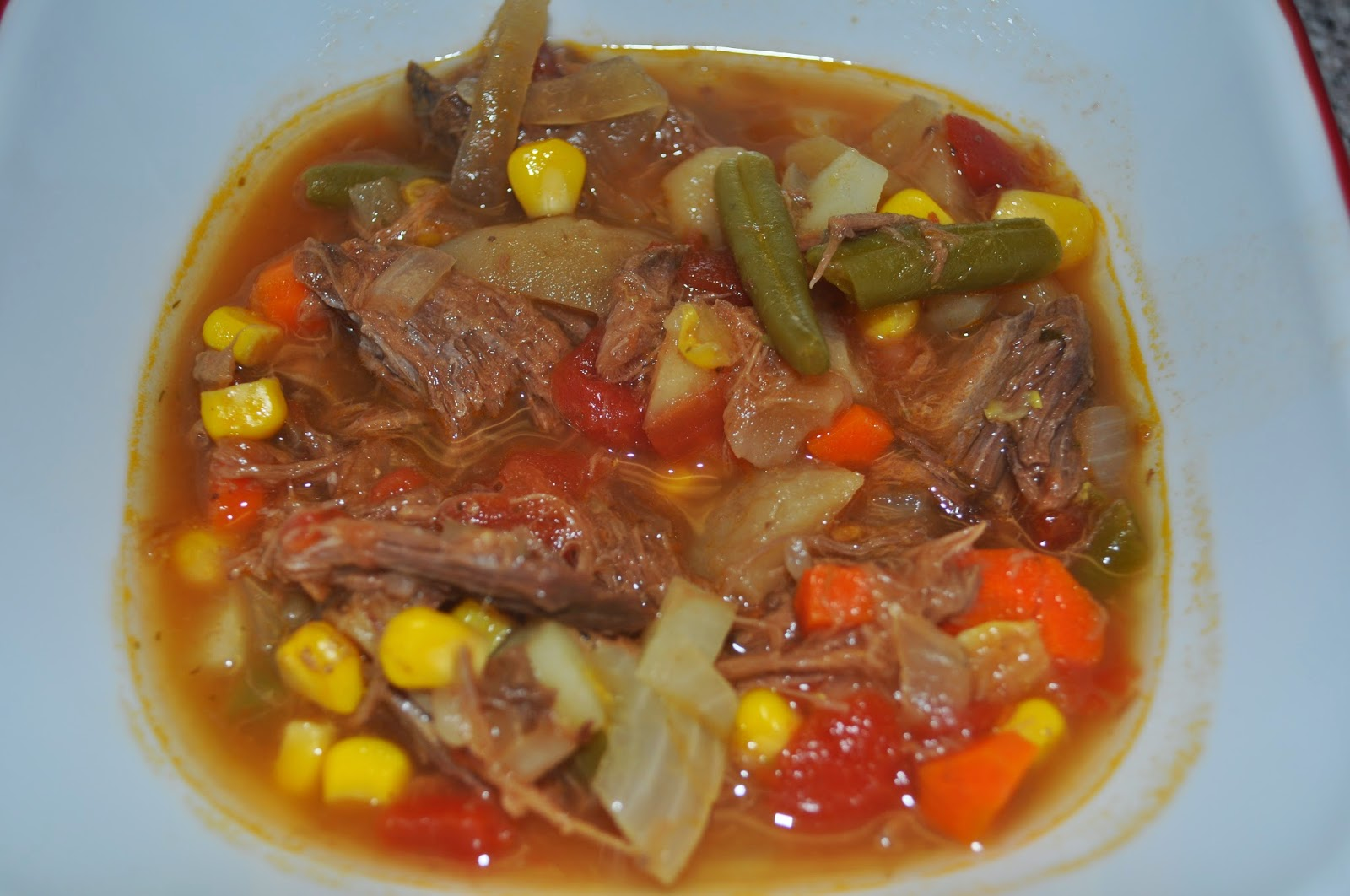 how to make homemade vegetable soup in a crock pot