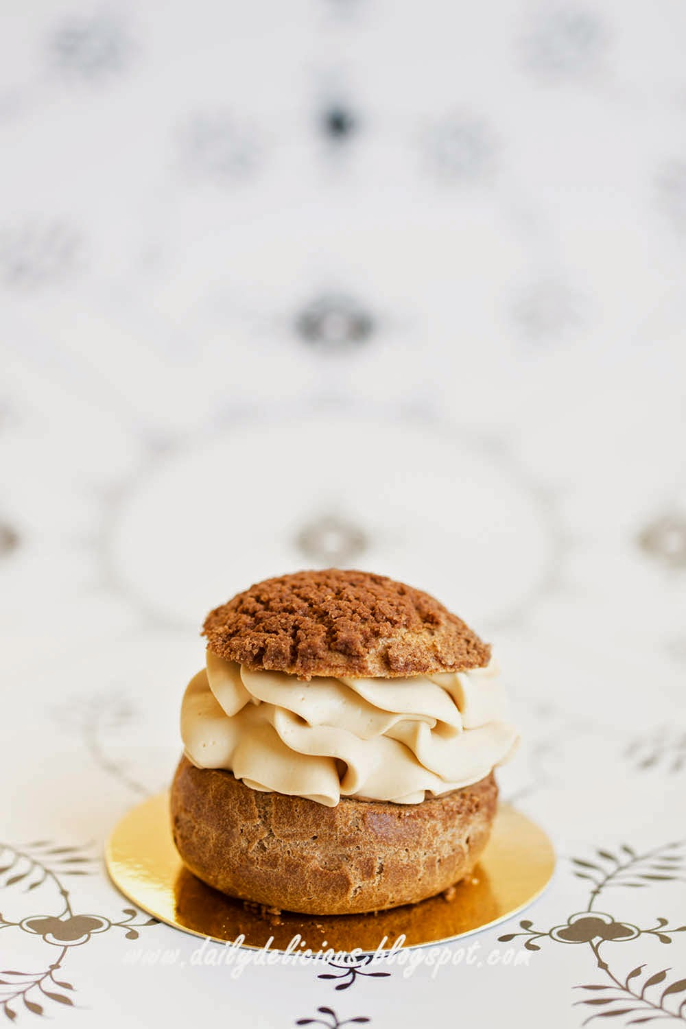 ... Chocolate choux pastry with chocolate pastry cream and caramel whipped
