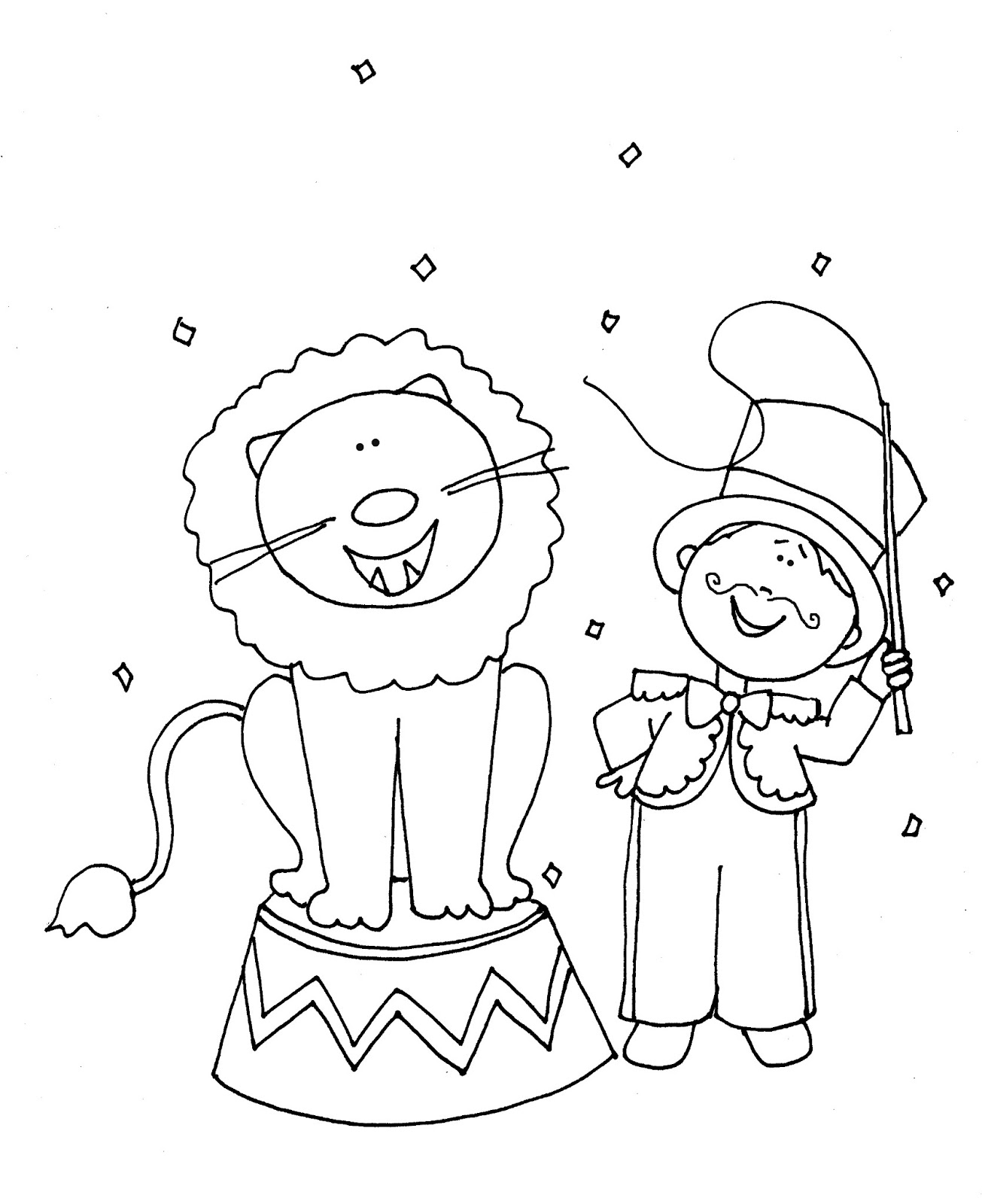 free circus lion coloring pages - photo#36