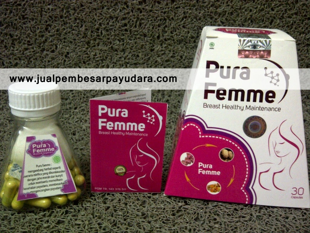 jual obat pembesar payudara pura femme aman bpom