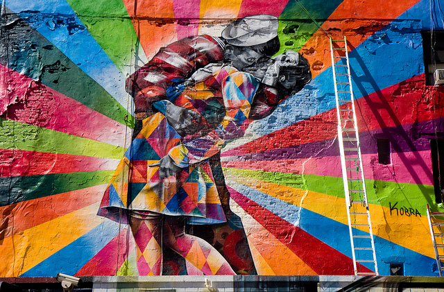 Eduardo Kobra Brasileiro cria lindo painel em Nova York