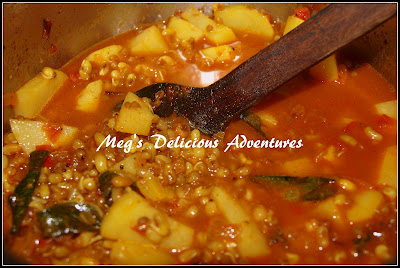 Matki usal (Moth beans curry) for Misal