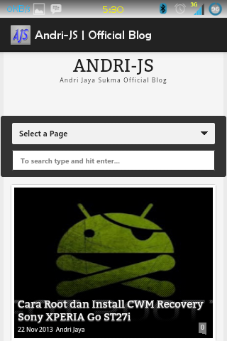 Aplikasi Andri-JS Blog