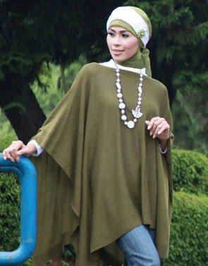 Zenitha Koleksi Cardigan Rajut hijau lumut