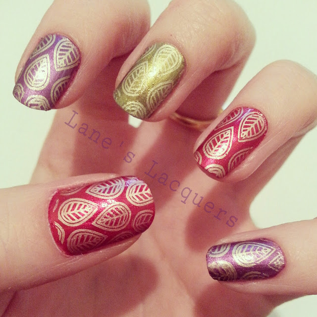 throwback-thursday-barielle-autumnal-gold-leaf-nail-art