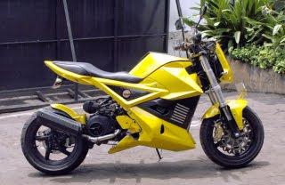 foto gambar modifikasi Yamaha Mio Sportbike