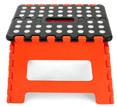 folding step stool, orange