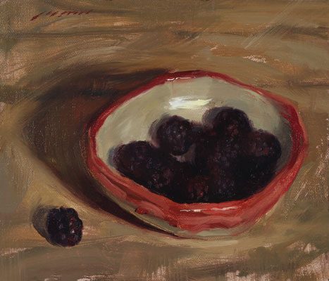 Best-jzaperoilpaintings-Blackberries-in-Bowl-Oil-Paintings-Image