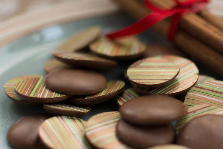 Winter Spice Chocolate Drops