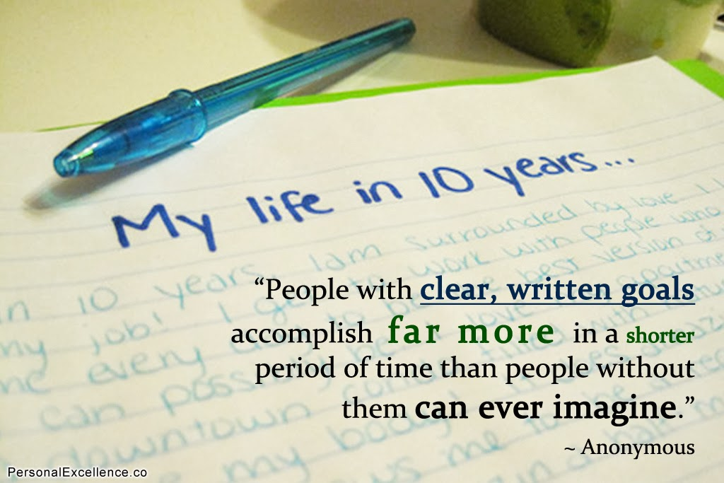 """People with clear, written goals accomplish far more in a shorter period of time than people without them can ever imagine."""