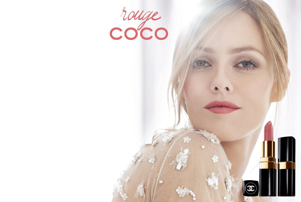 Vanessa Paradis in Chanel Rouge Coco Campaign as featured in Vogue UK