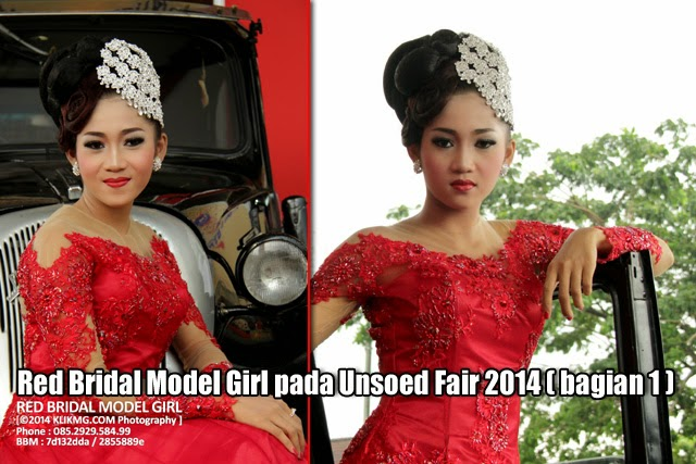 Red Bridal Model Girl pada Unsoed Fair 2014 (bagian 1) - Foto oleh KLIKMG Fotografer Jakarta