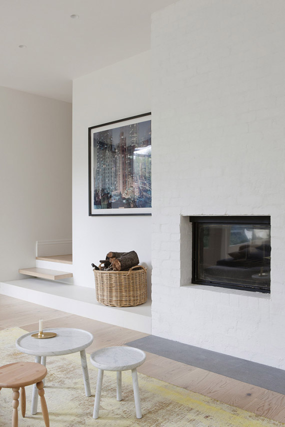 DECOR TREND: Minimalist fireplace | Shannon McGrath via Vogue Living